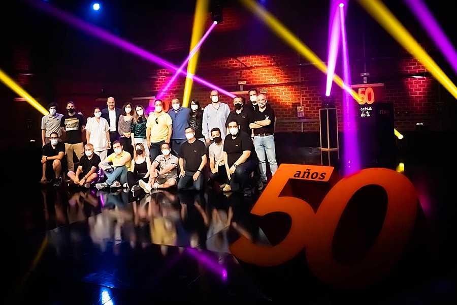 El equipo de RTVE Andalucía durante las celebraciones de los 50 años
