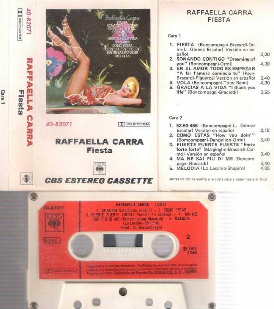 Cassette de Raffaella Carrà; de Ángel Vilda, director creativo de Brain&Beast