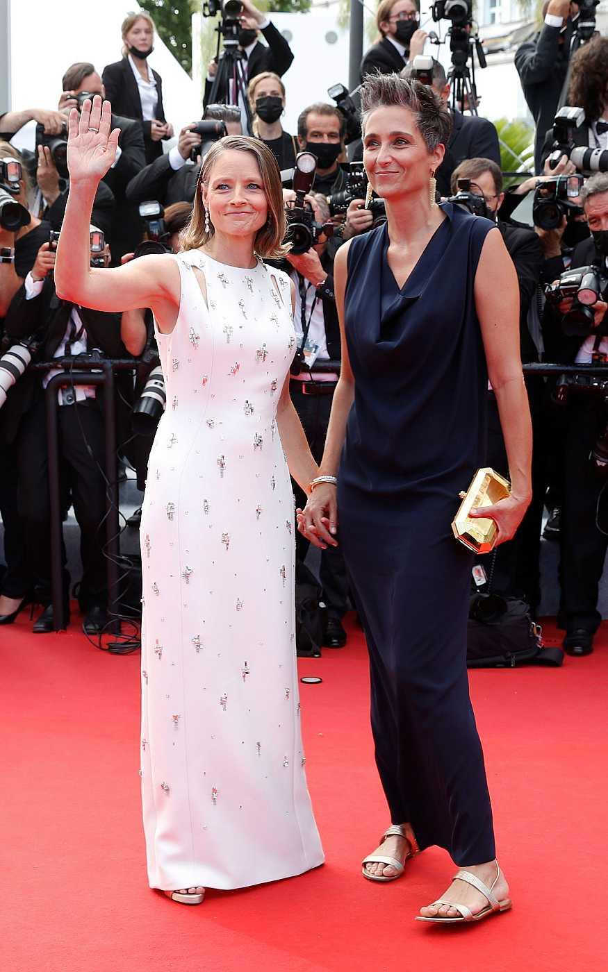 Jodie Foster y su mujer, Alexandra Hedison, en la alfombra roja del festival de Cannes