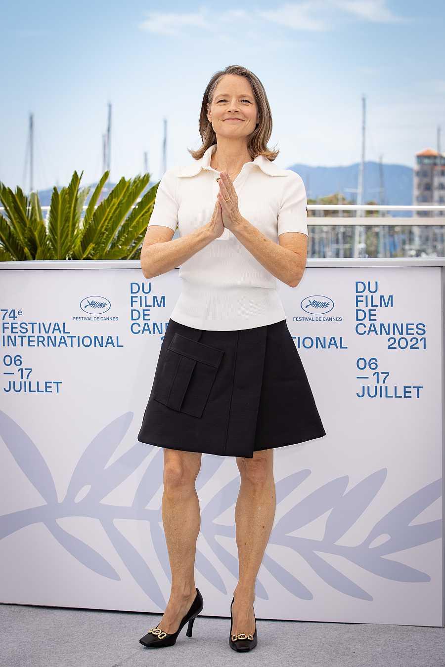 Jodie Foster en el photocall de la 74ª edición del Festival de Cannes