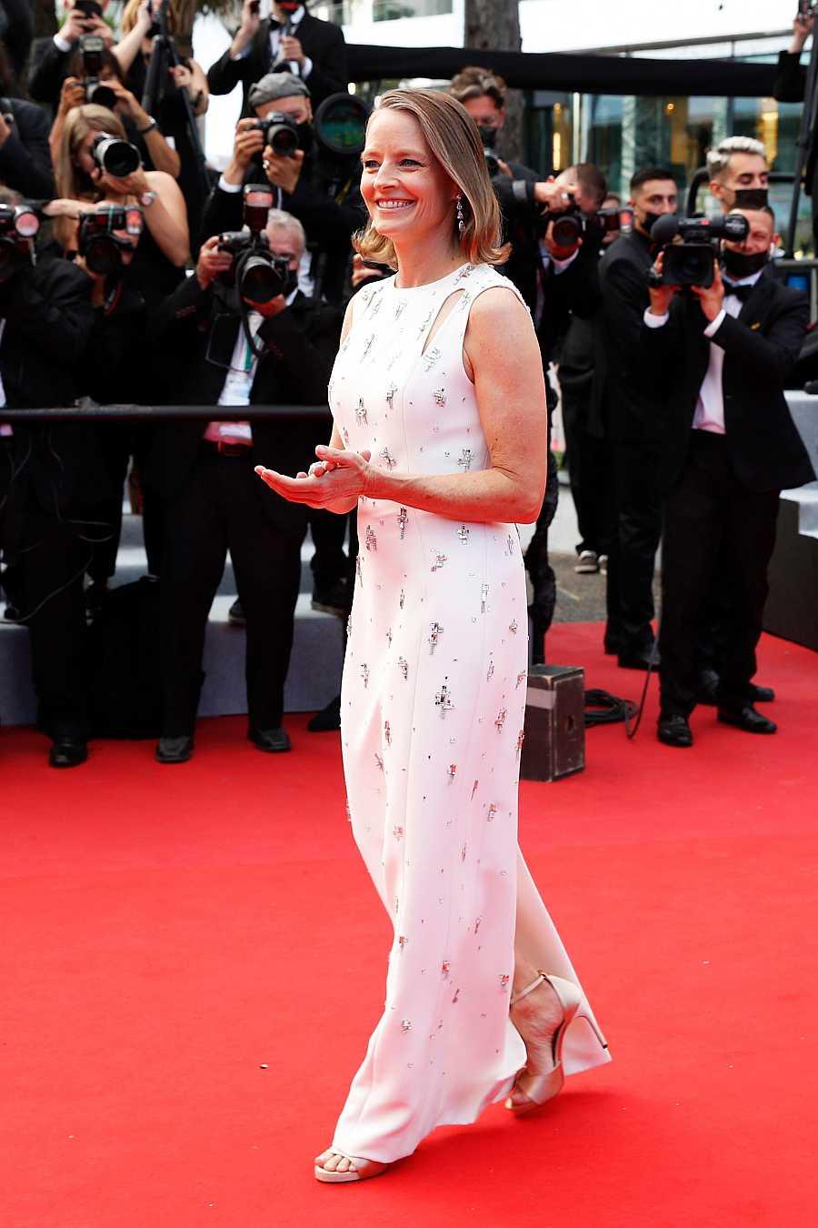 Jodie Foster en la alfombra roja de Cannes