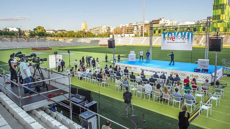 El Estadio Vallehermoso ha acogido la presentación de la cobertura de RTVE para los Juegos