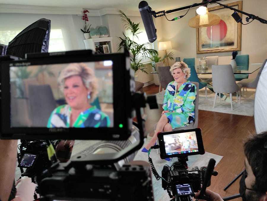 Terelu, durante la entrevista