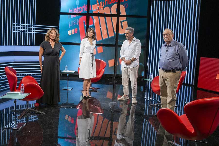 Fernández Santos, Oristrell y Méndez Leite, con Elena S Sánchez