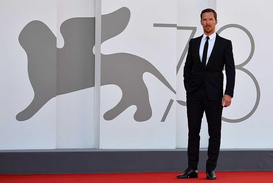 Benedict Cumberbatch en la premiere de 'El poder del perro' en el Festival de cine de Venecia
