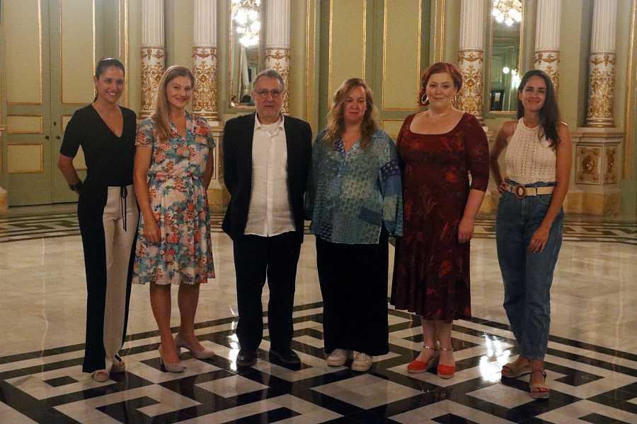 Part de l'equip d''Ariadne auf Naxos' al Liceu, el 13 de setembre del 2021