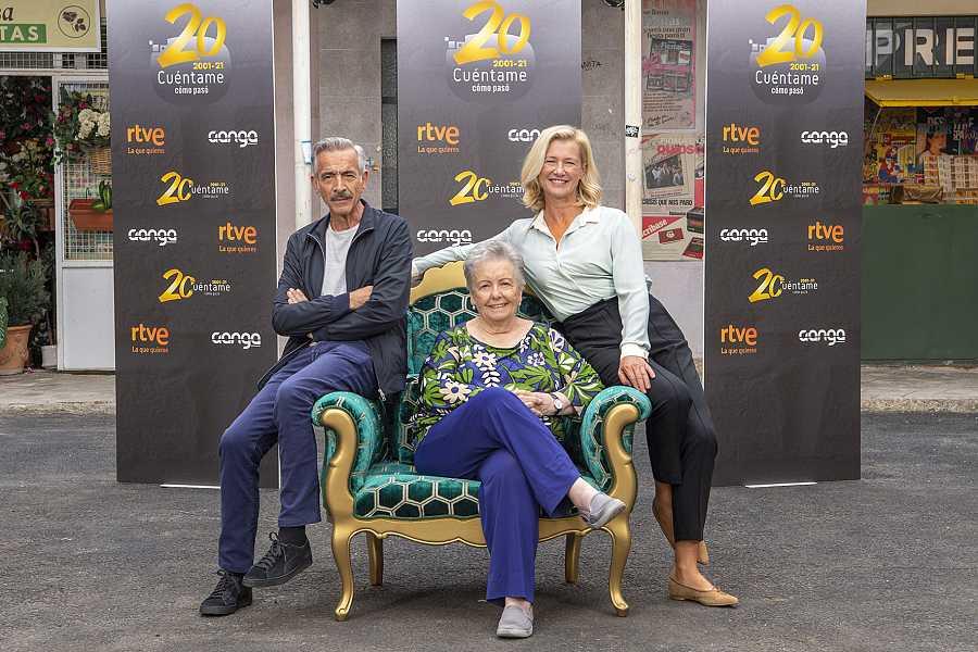 Imanol Arias, María Galiana y Ana Duato