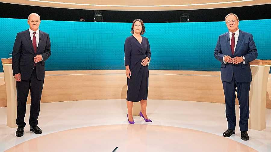Scholz, Baerbock y Laschet, los tres principales candidatos de las elecciones alemanas