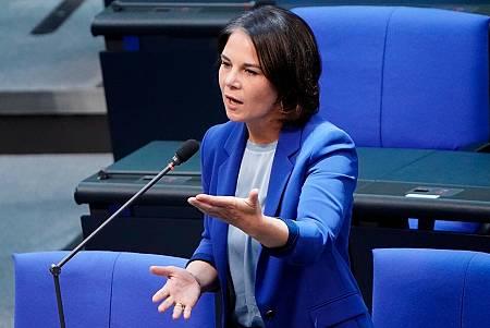 La candidata por los Verdes Annalena Baerbock