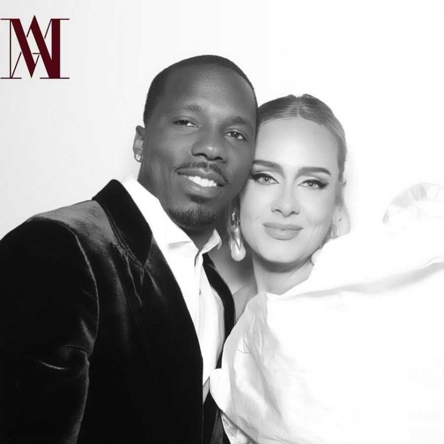 Adele y su pareja Rich Paul
