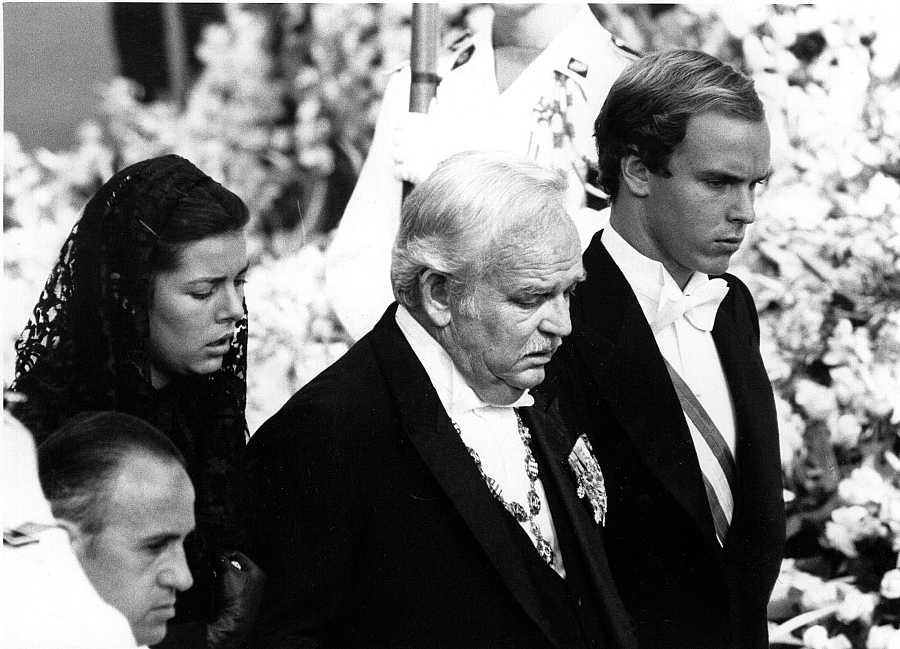 El funeral de Grace Kelly en 1982