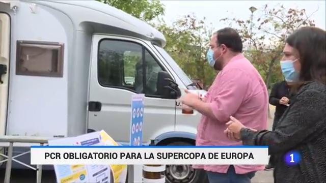 500 sevillistas se han realizado pruebas PCR para poder viajar a Budapest, a la final de la Supercopa de Europa