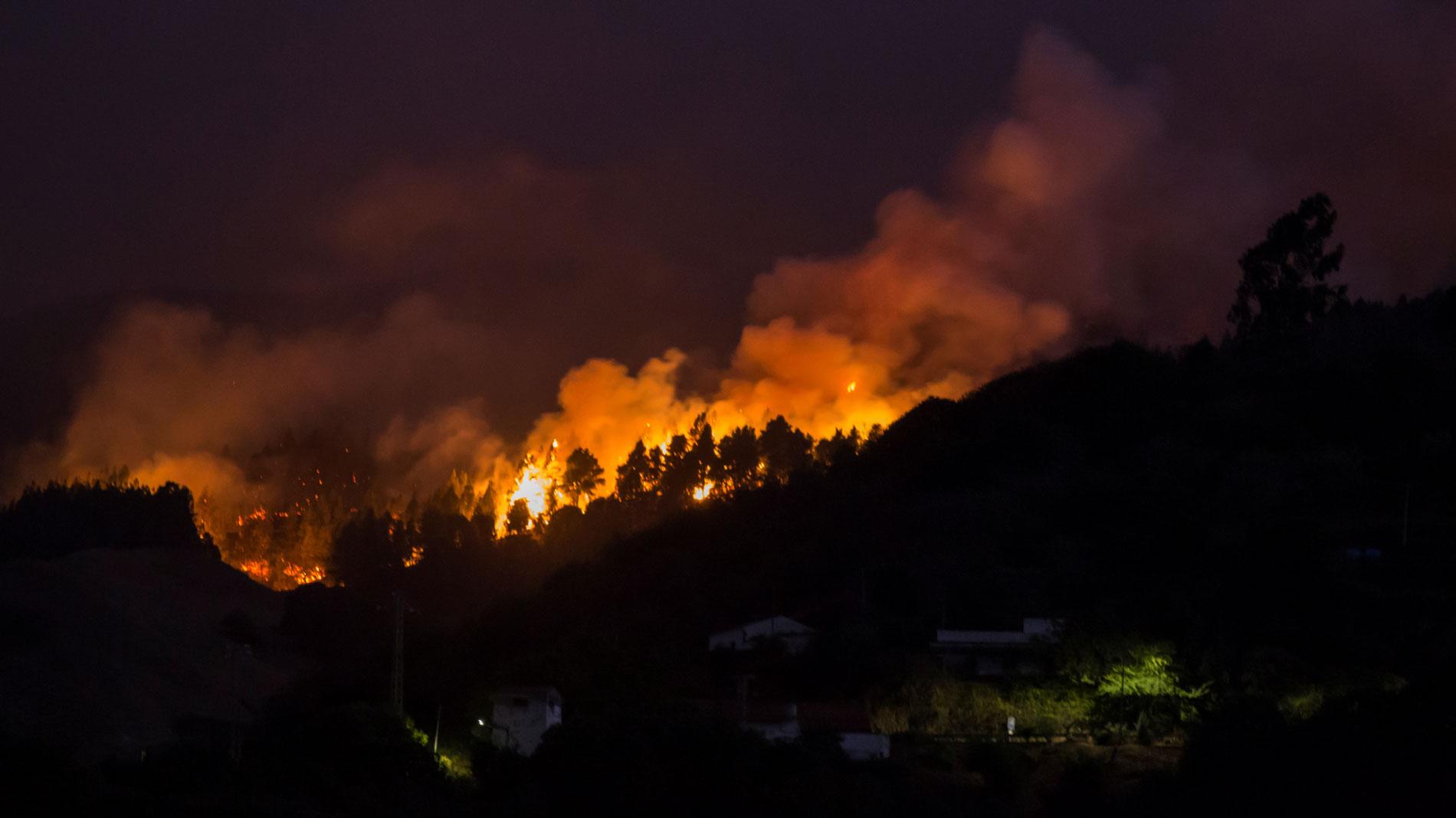5.000 personas evacuadas por el incendio de Gran Canaria