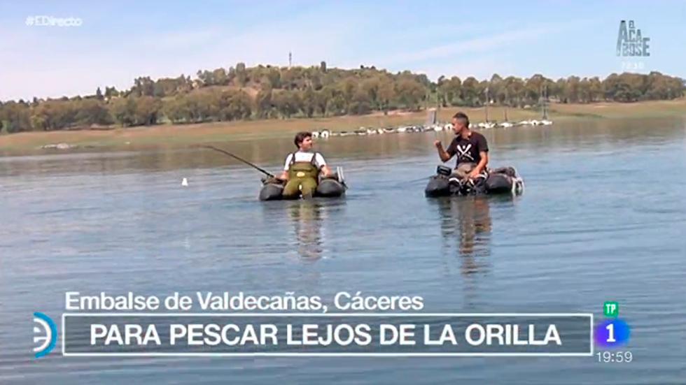 España Directo - Aprendemos a pescar con pato en Cáceres
