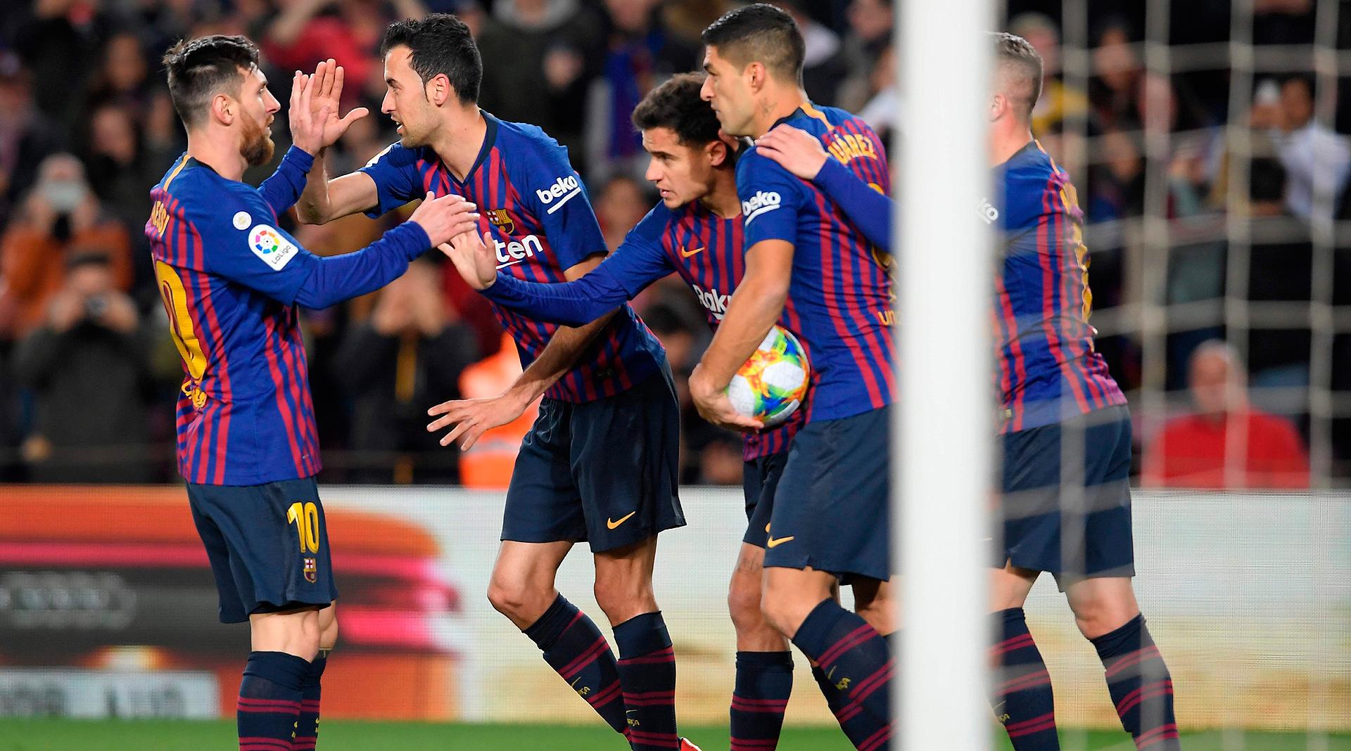Así llega el Barça al primer Clásico de Copa