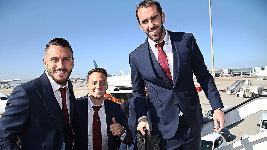 El Atlético ya está en Turín para medirse a la Juventus