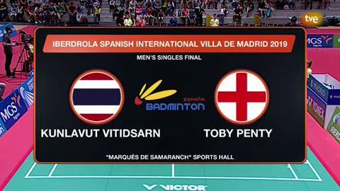 Spanish International: Final individual Masculino