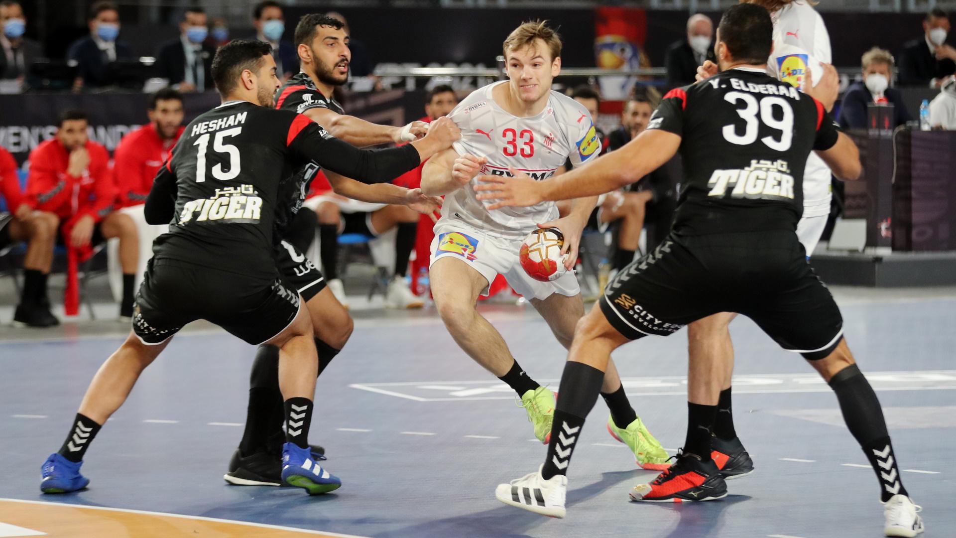 Campeonato Mundo masc.: 1/4 Final: Dinamarca - Egipto