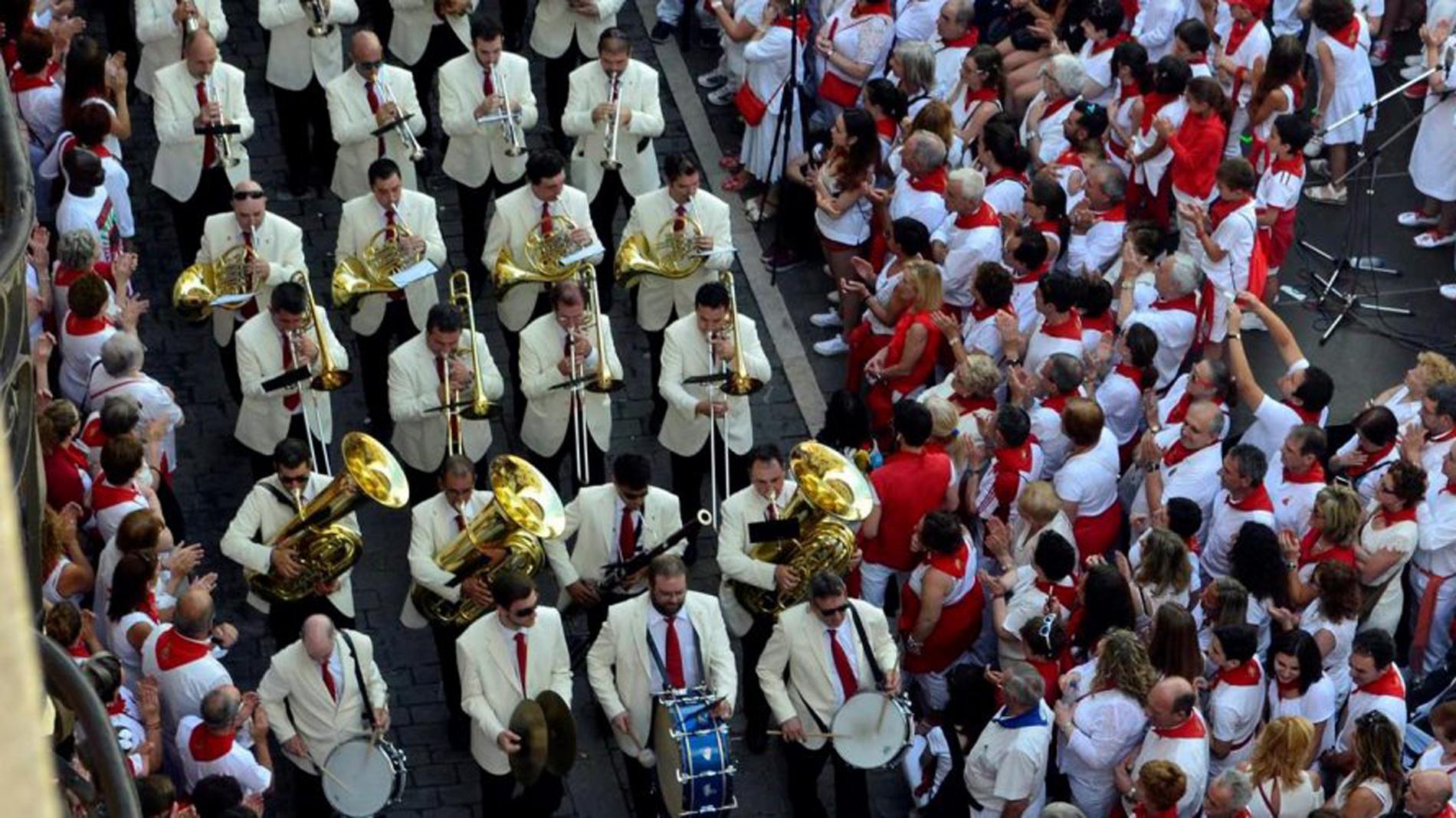 La banda de música La Pamplonesa lanzará el chupinazo de los Sanfermines