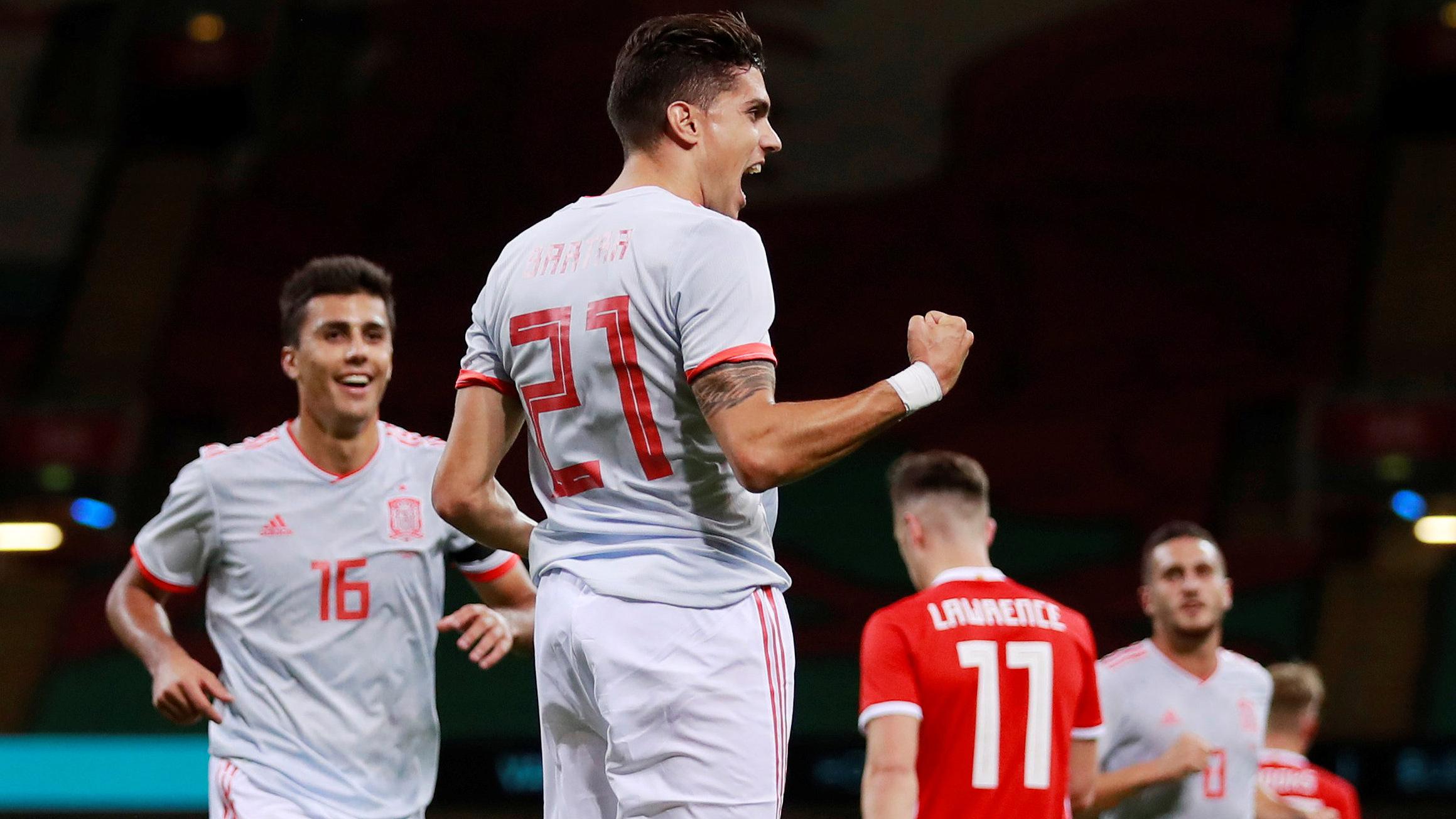 Bartra marca el cuarto de España (0-4)