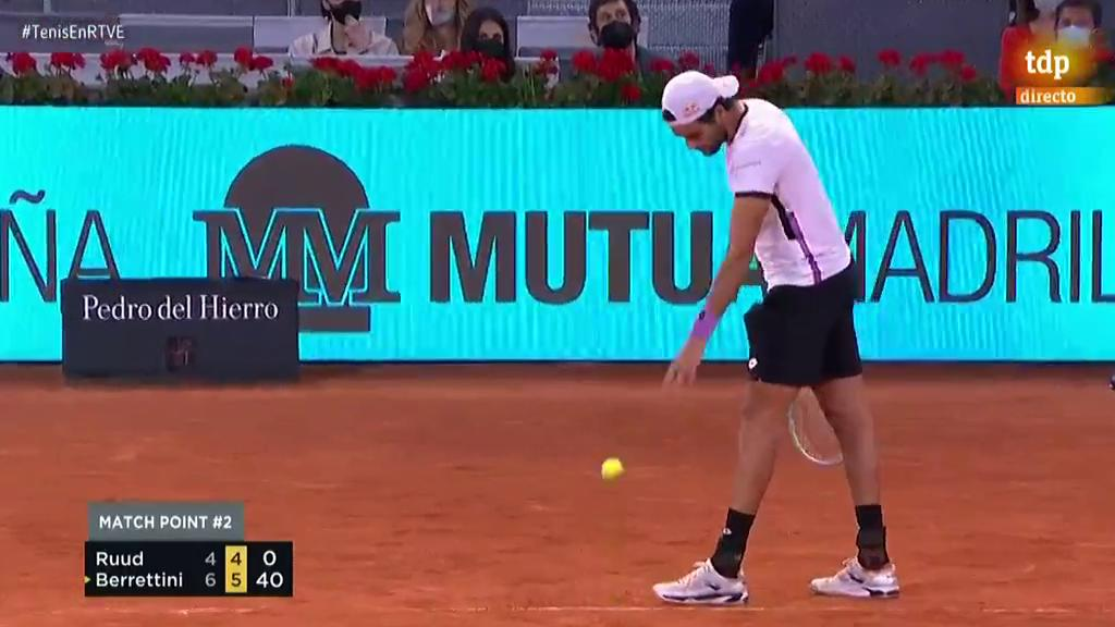 Berrettini gana Ruud y se mete en la final del Madrid Open