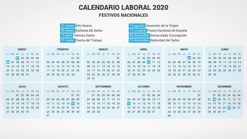 El Calendario Laboral De 2020 Con Al Menos 5 Puestes Rtve Es