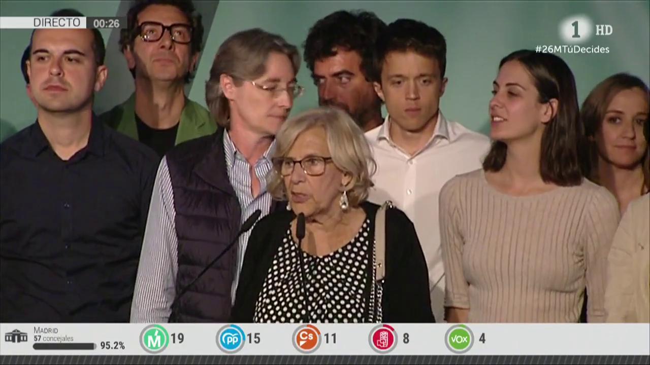 Resultado de imagen de Carmena reconoce que no podrá seguir al frente del Ayuntamiento de Madrid y dejará la política cuando se constituya el nuevo Gobierno local