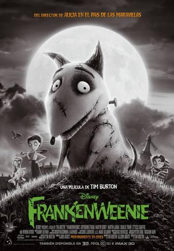 Cartel español de 'Frankenweenie', de Tim Burton