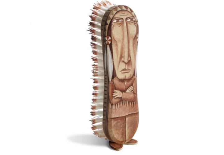 Un cepillo convertido en un indio por Gilbert Legrand