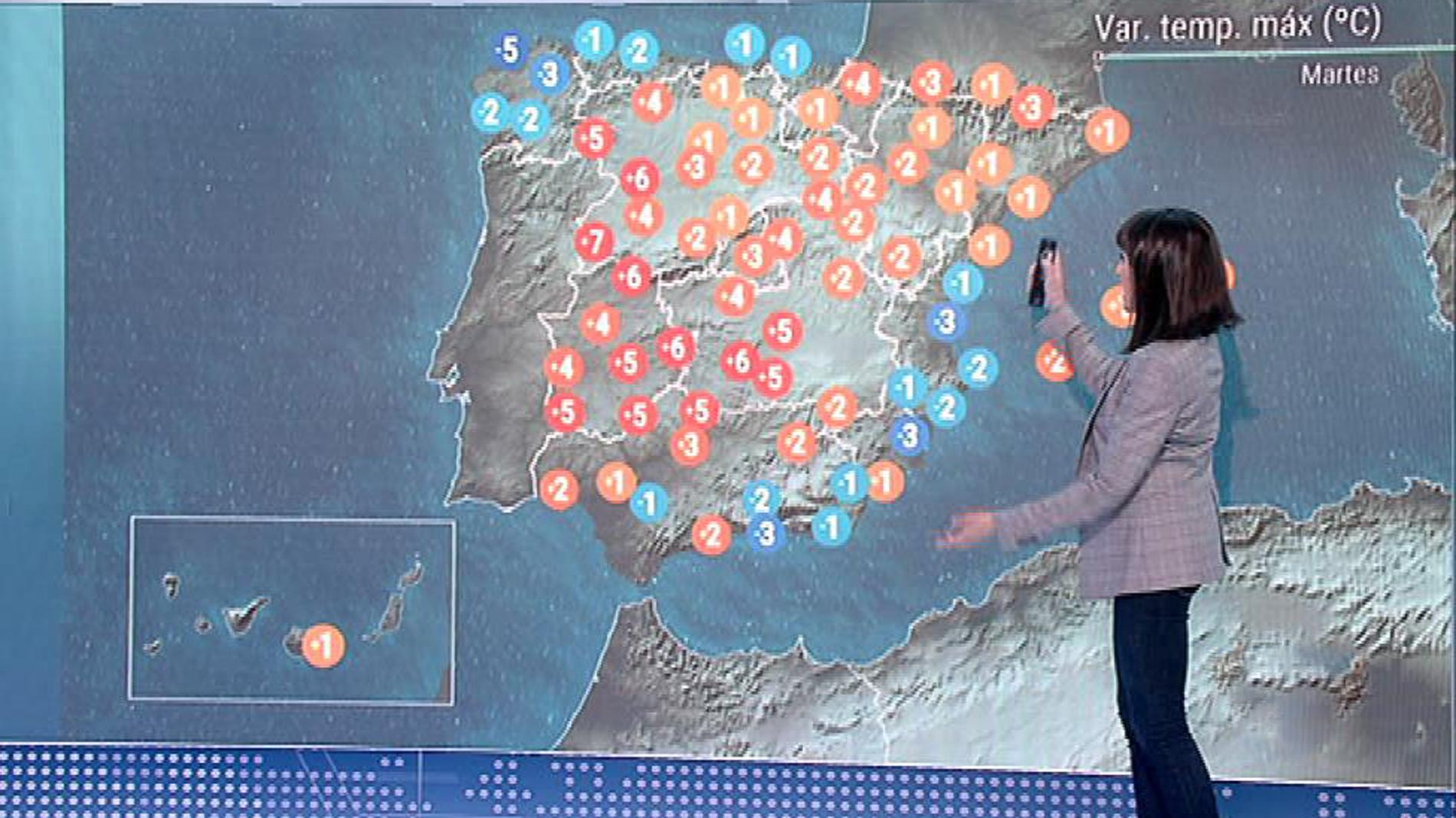 Chubascos fuertes en el sudeste de Andalucía y débiles en Cataluña, y temperaturas en ascenso en el interior
