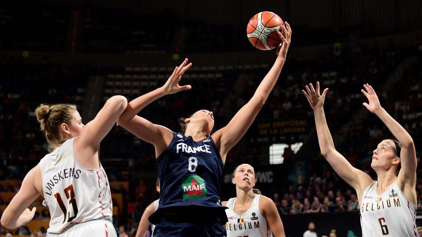 Baloncesto - Campeonato del Mundo Femenino 2018. 1/4 de Final: Bélgica - Francia