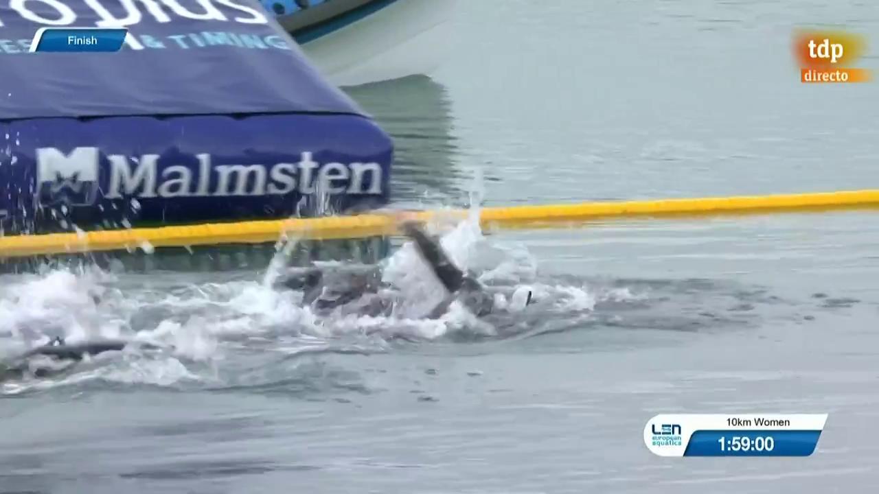 Cuatro décimas separan a Paula Ruiz del bronce europeo en Aguas Abiertas