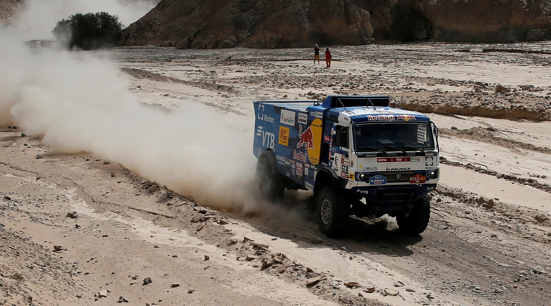 Dakar 2019: Un camión, excluido por atropellar a un espectador y no auxiliarlo