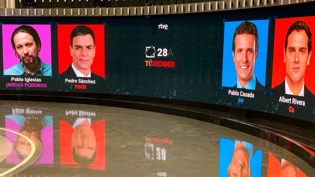 El debate a cuatro lo empezará Rivera y lo cerrará Sánchez: así será el debate electoral en RTVE