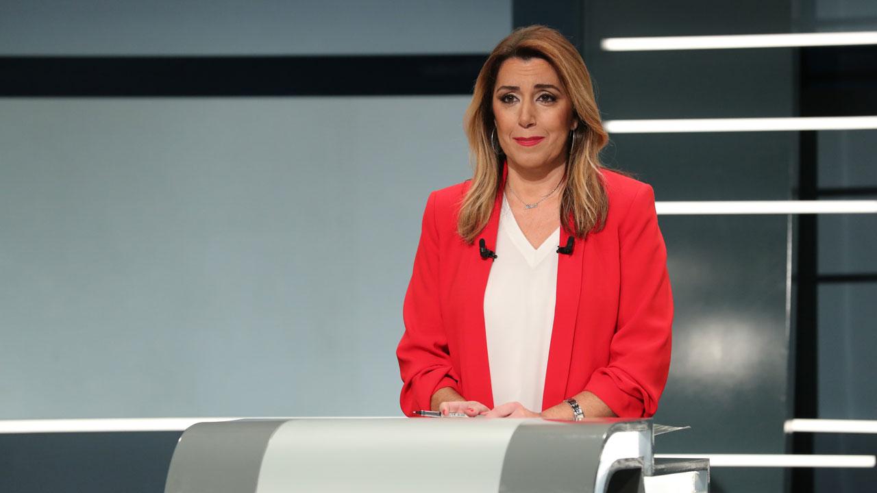 """Debate Elecciones Andalucía 2018   Díaz le advierte a Rodríguez que gobernar no es fácil: """"No es Juego de Tronos"""""""