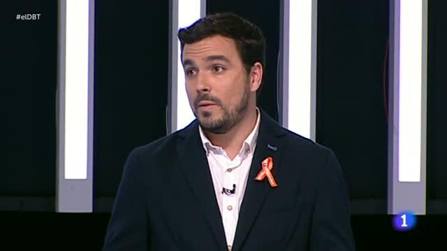 Debate a nueve - Garzón afea la ausencia de otros líderes