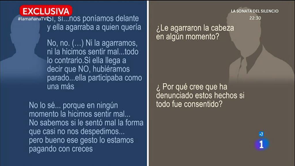 Declaraciones de los implicados en la presunta violación de San Fermín