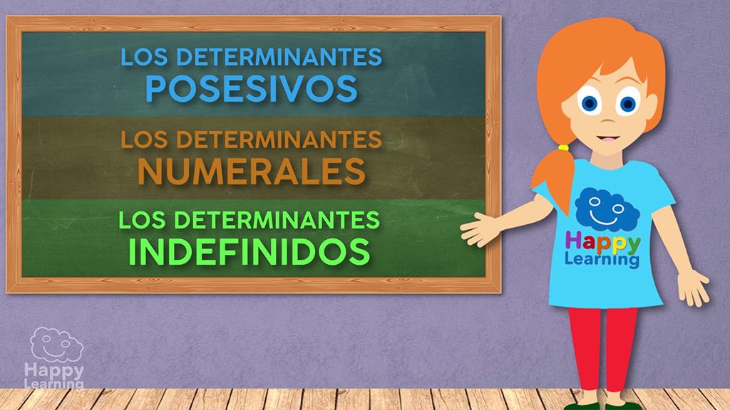 LENGUA - Los determinantes posesivos, numerales e indefinidos