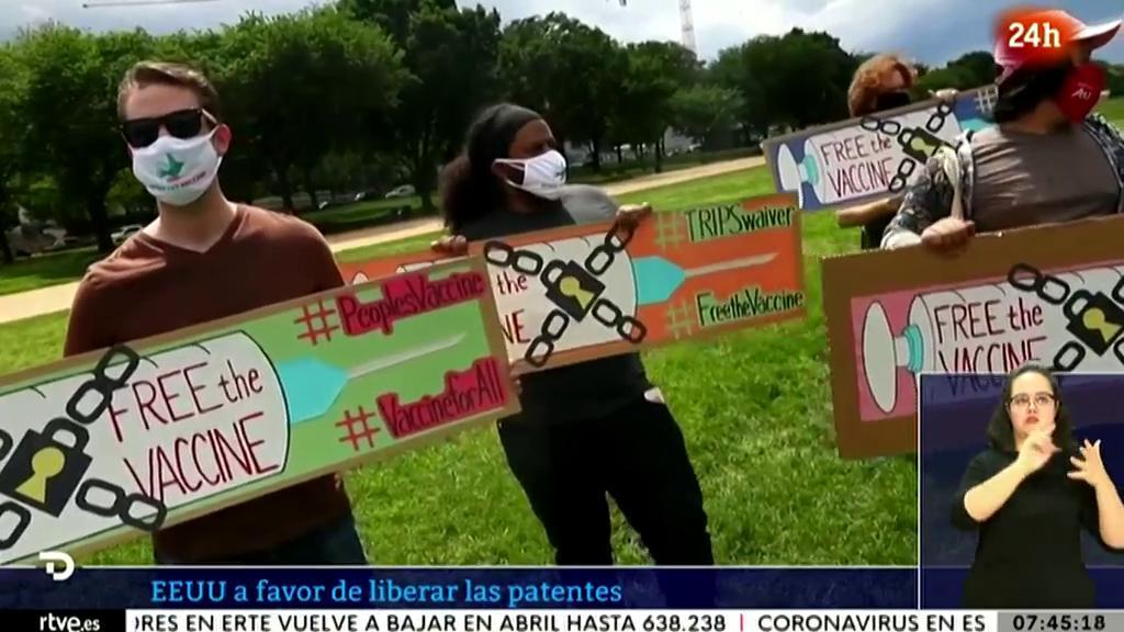 EE.UU, a favor de liberar las patentes de las vacunas anticovid