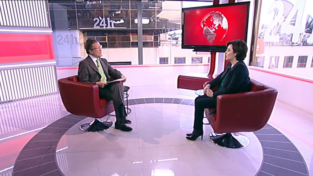 Entrevista a Soraya Sáenz de Santamaría en 'Economía en 24 horas'