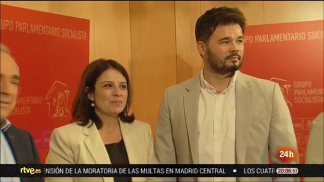 ERC empuja a PSOE y Podemos a llegar a un pacto