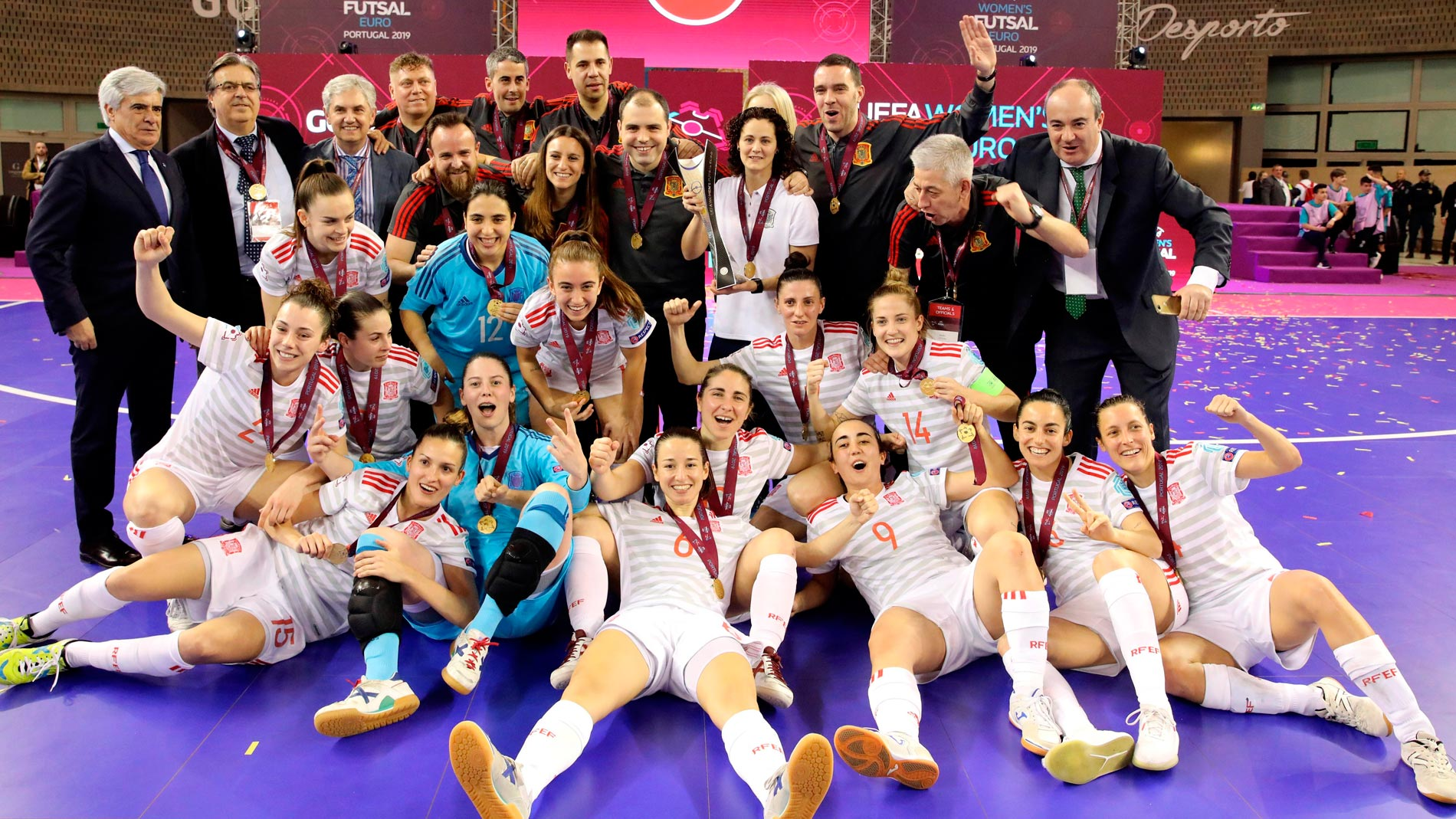 España, primera campeona de Europa de fútbol sala femenino