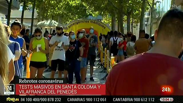Esta semana se realizarán test masivos en Santa Coloma de Gramenet y Vilafranca del Penedès