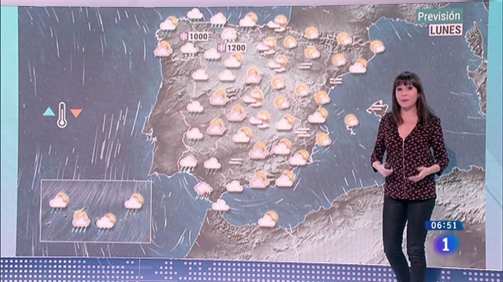 Este lunes hay nieve desde los mil metros en el noroeste y lluvia intensa en Galicia