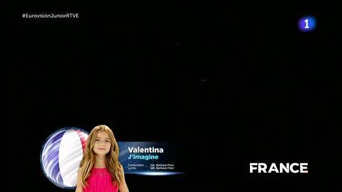 Actuación de Valentina (Francia)