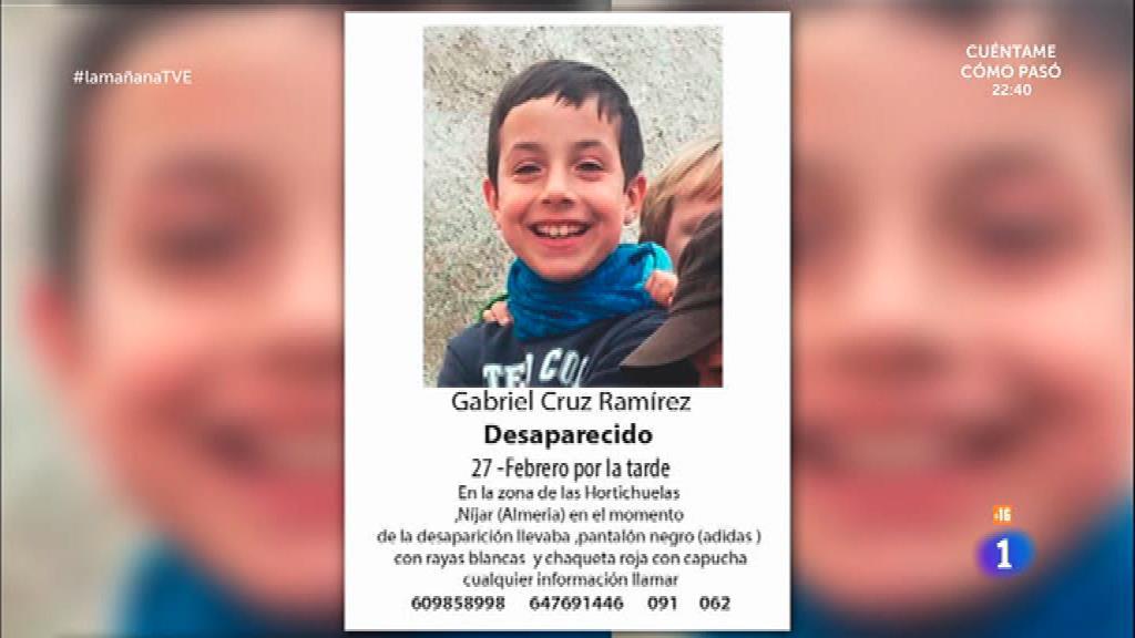 Gabriel, de 8 años, desaparecido en Níjar (Almería)