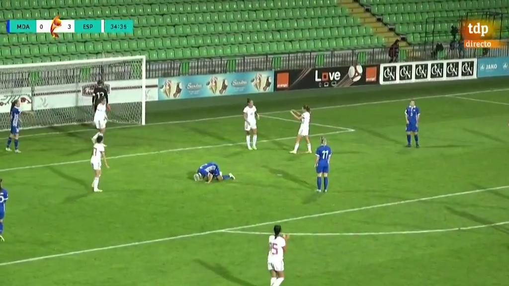 Gol de Jennifer Hermoso a placer (0-4)