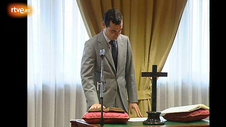 González-Echenique, jurando el cargo como director general para el desarrollo de la Sociedad de la Información