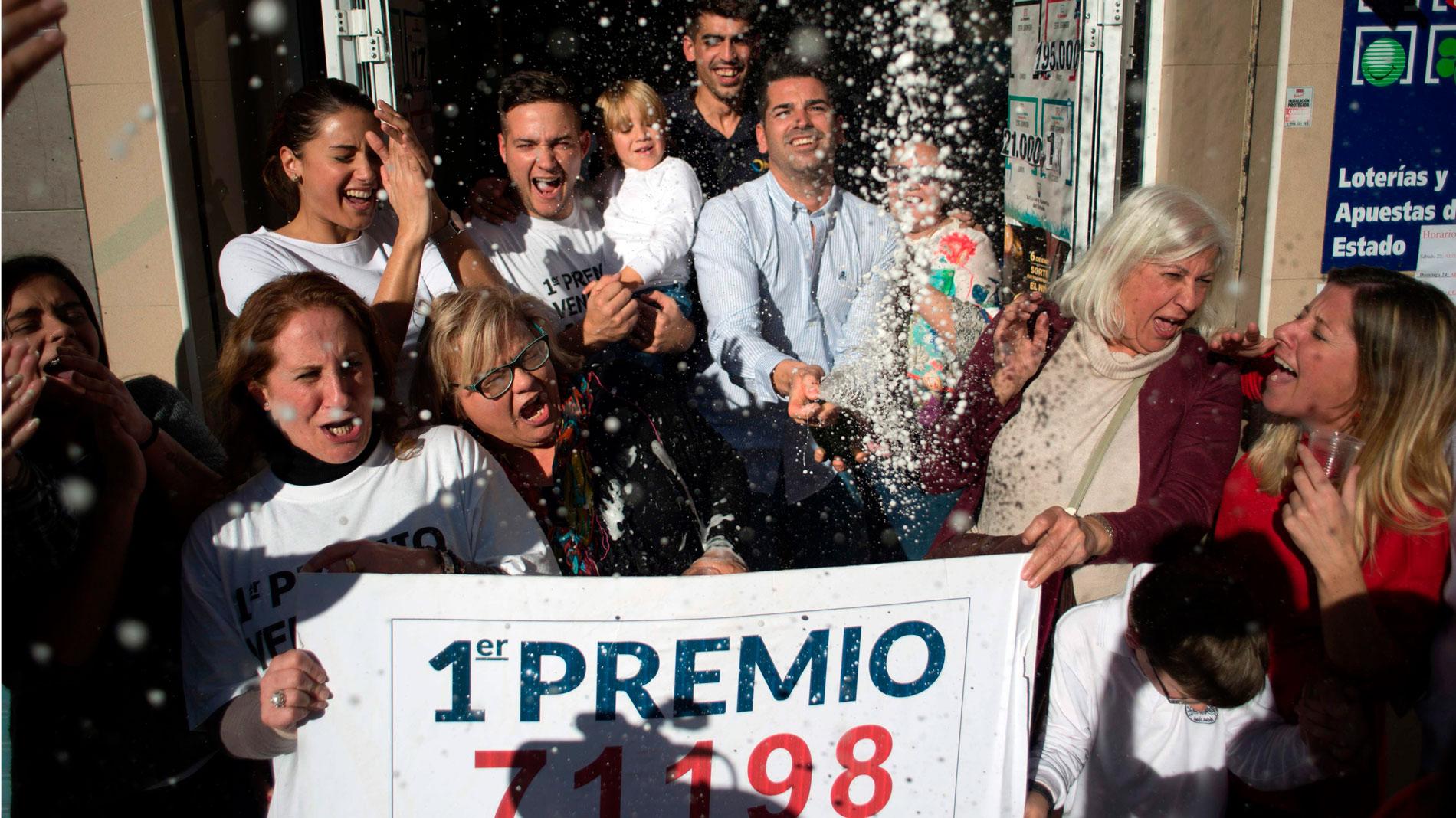 El Gordo deja en Málaga más de 128 millones de euros