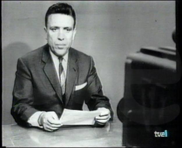 David Cubero, primo capo editore di TVE e uno dei presentatori Pioneer